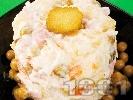 Рецепта Съветска класическа салата с картофи, грах, шунка, ябълки, мариновани краставички и майонеза